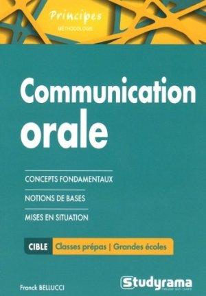 La communication orale - Studyrama - 9782759026562 -