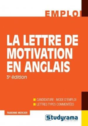 La lettre de motivation en anglais - Studyrama - 9782759034130 -