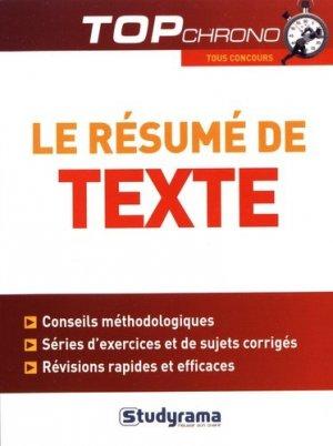 La contraction de texte : tous concours - studyrama - 9782759036110 -