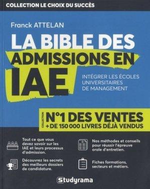 La bible des admissions en IAE - Studyrama - 9782759038466 -
