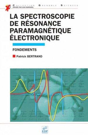 La spectroscopie de résonance paramagnétique électronique - edp sciences - 9782759805549 -