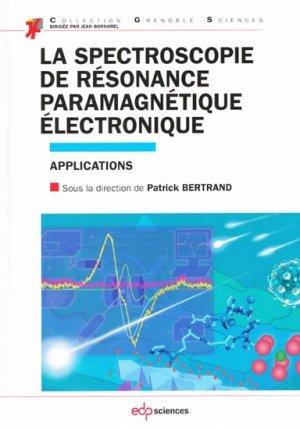 La spectroscopie de résonance paramagnétique électronique - edp sciences - 9782759811915 -