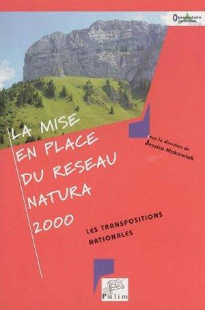 La mise en place du réseau Natura 2000 Les transpositions nationales - presses universitaires de limoges - 9782842873516 -