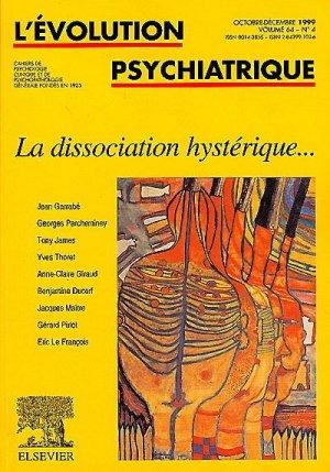La dissociation hystérique - elsevier / masson - 9782842991036 -