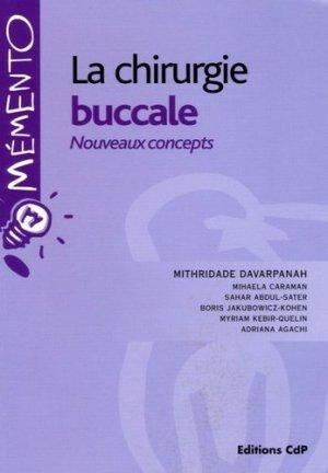 La chirurgie buccale Nouveaux concepts - cdp - 9782843610868 -