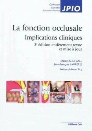 La fonction occlusale - cdp - 9782843612039