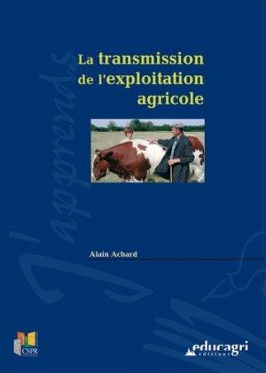 La transmission de l'exploitation agricole - educagri - 9782844445452 -
