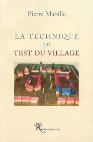 La technique du test du village - Ressouvenances - 9782845051201 -