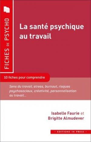 La santé psychique au travail - in press - 9782848355726 -
