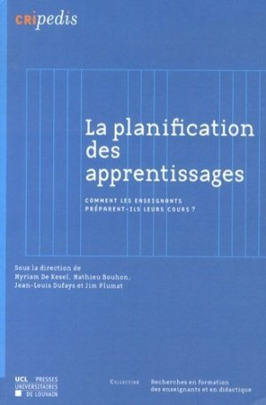 La planification des apprentissages - presses universitaires de louvain - 9782875582485 -