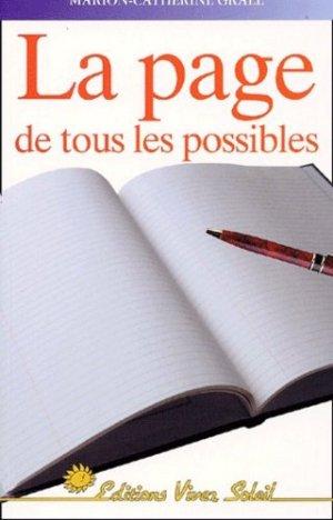 La page de tous les possibles - Vivez Soleil - 9782880583507 -
