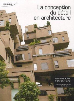 La conception du détail en architecture - modulo (canada) - 9782896503209 -