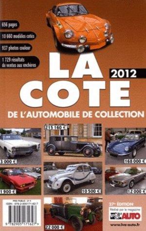 La cote de l'automobile de collection 2012 - edifree - 9782905171627 -