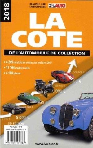 La cote de l'automobile de collection 2018 - lva (la vie de l'auto) - 9782905171887 -
