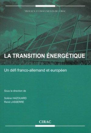La transition énergétique - CIRAC - 9782905518507 -