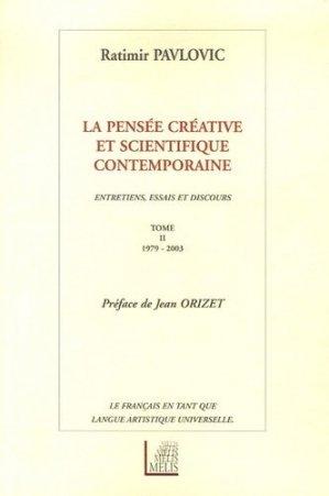 La pensée créative et scientifique contemporaine - Melis Editions - 9782914333979 -