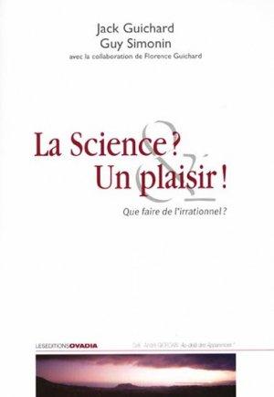 La science ? Un plaisir ! - ovadia - 9782915741506 -