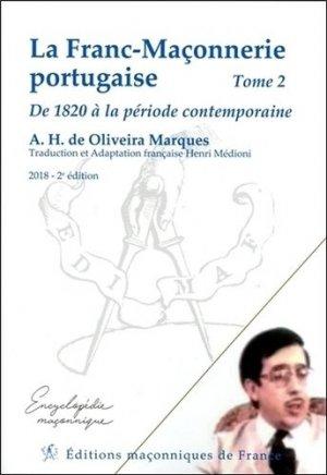 La franc-maçonnerie portugaise - Editions Maçonniques de France - 9782919601936 -