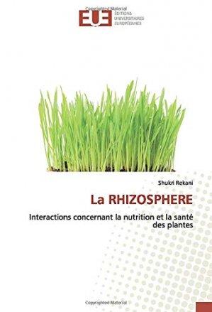 La rhizosphère - editions universitaires europeennes - 9786139535330 -