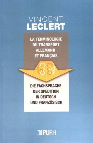 La terminologie du transport en allemand et en français - presses universitaires de rouen et du havre - 9791024013503 -