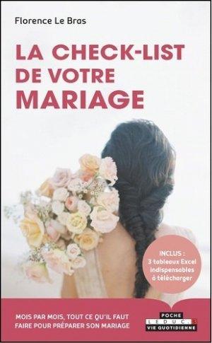 La check-list de votre mariage - leduc - 9791028516635 -