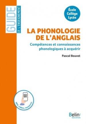 La phonologie de l'anglais - Belin - 9791035816681 -