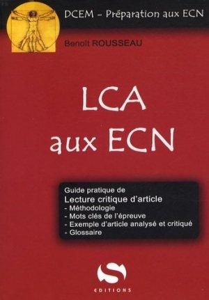 LCA aux ECN - s editions - 9782356400390 -