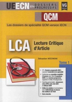 LCA, tome 1 - vernazobres grego - 9782818317099 -
