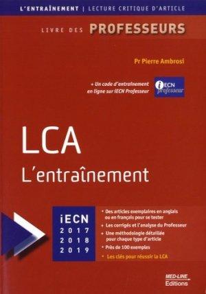 LCA l'entraînement - med-line - 9782846781992 -