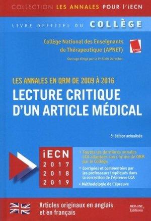 LCA 2009-2016 articles originaux - med-line - 9782846782067 -