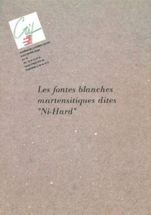 Les fontes blanches martensitiques dites 'Ni-Hard' - etif - 2224646040116 -