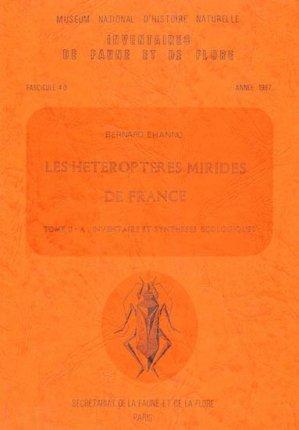 Les hétéroptères mirides de France - museum national d'histoire naturelle - mnhn - 9782865150373 -