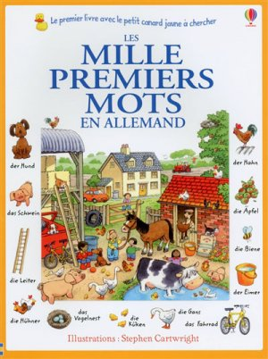 Les mille premiers mots en allemand - Usborne - 9781409596325 -