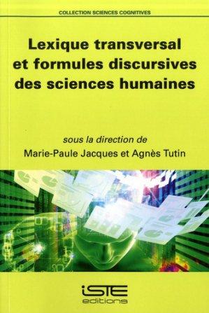 Lexique transversal et formules discursives des sciences humaines - iste - 9781784054854