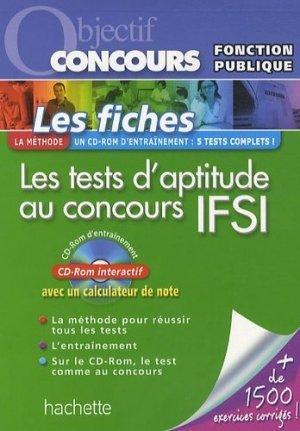Les tests d'aptitude au concours IFSI - hachette - 9782011712905