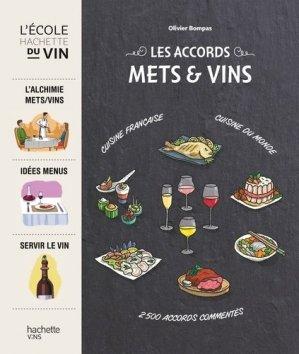 Les accords mets et vins - hachette - 9782013962575 -