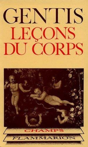 Leçons du corps - flammarion - 9782080811141 -