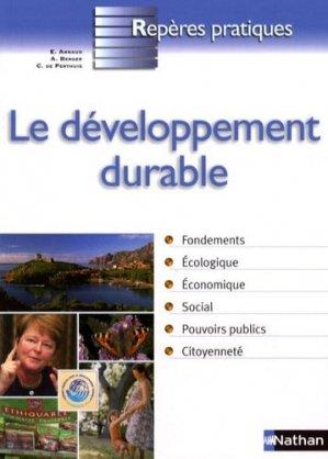 Le développement durable - nathan - 9782091606453 -