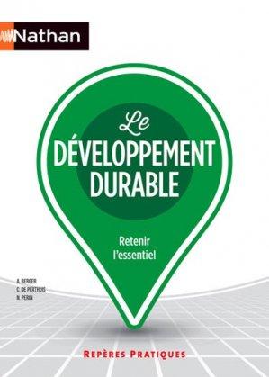 Le développement durable - nathan - 9782091631417 -