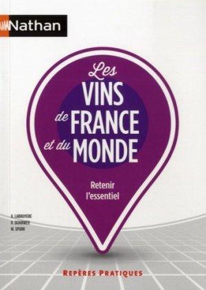 Les vins de France et du monde - nathan - 9782091638393 -