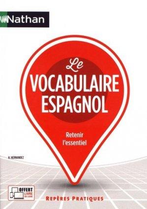 Le vocabulaire espagnol - nathan - 9782091651835 -