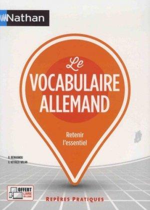 Le vocabulaire allemand - nathan - 9782091651842 -