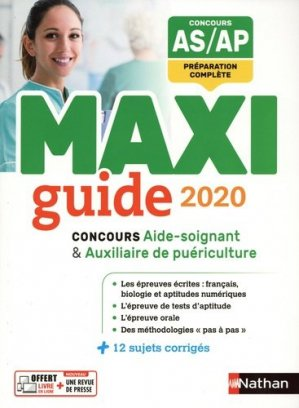 Le Maxi guide AS/AP 2020 - nathan - 9782091654836 -