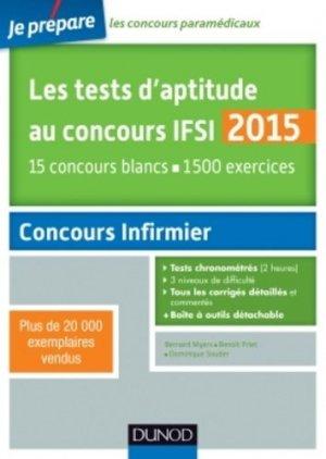 Les tests d'aptitude au concours IFSI 2015 - dunod - 9782100720972 -