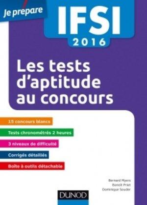 Les tests d'aptitude au concours IFSI 2016 - dunod - 9782100742448