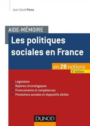 Les politiques sociales en France - dunod - 9782100778690 -