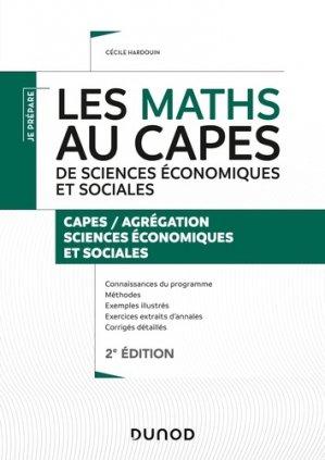 Les maths au CAPES de Sciences économiques et sociales - dunod - 9782100794287