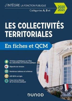Les collectivités territoriales en fiches et QCM. Catégories A, B et C, Edition 2020-2021 - Dunod - 9782100806720 -