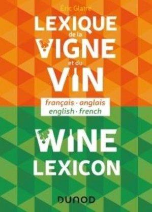 Lexique de la vigne et du vin - dunod - 9782100814749 -