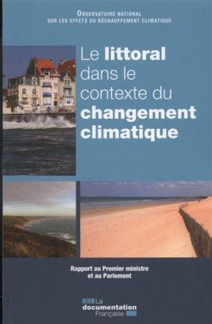 Le littoral dans le contexte du changement climatique - la documentation francaise - 9782110100375 -